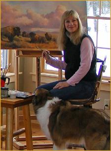 Bonnie Marris in her studio
