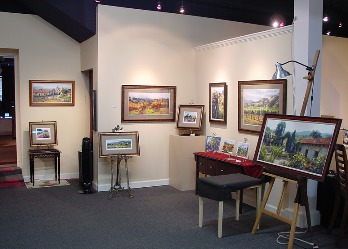 Getting ready for the June Carey artist reception