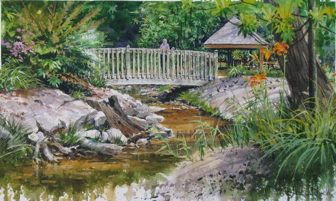 A great painting of the Fuquay Mineral Springs by Luke Buck
