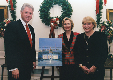 Sally with Bill & Hiary Clinton