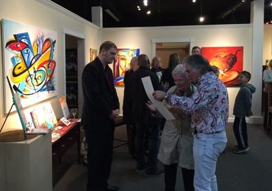 Ashley's Art Gallery host Alfred Gockel famous contemporary artist.