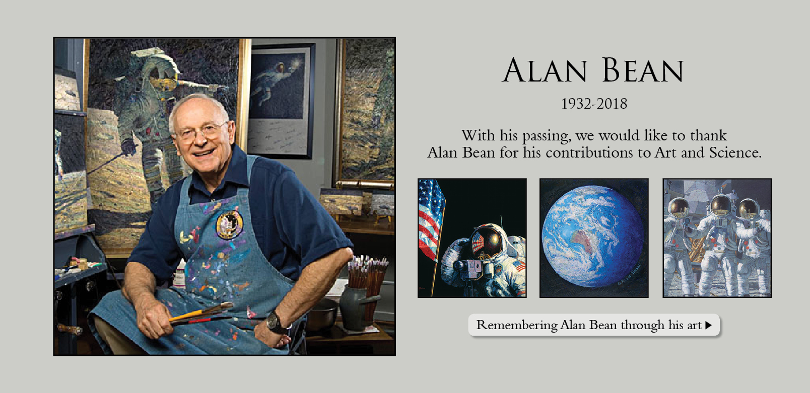 Allan Bean passed away May 26, 2018